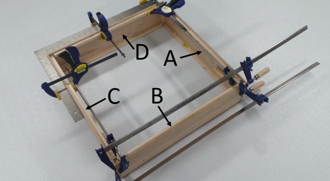 Glue C D A B Square