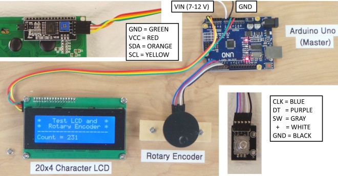 LCD and Rotary Encoder Picture