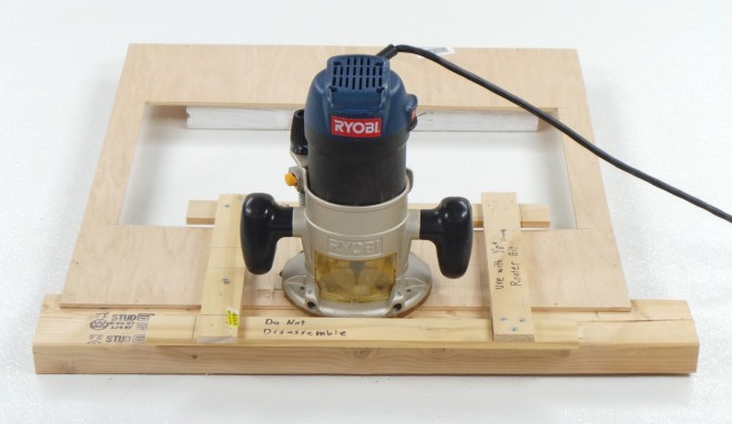 Router cutting LCD hole