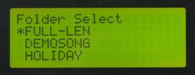 LCD - Folder Select