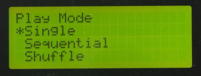 LCD - Play Mode Select