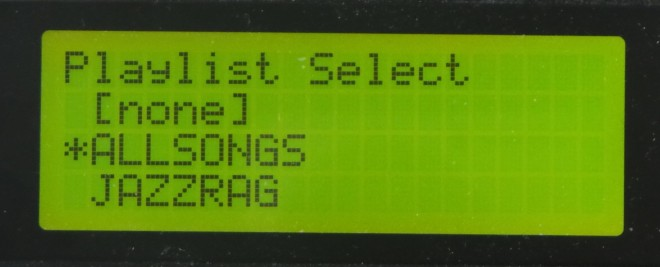 LCD - Playlist Select
