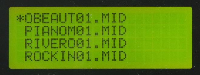 LCD - Song List MIDI
