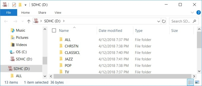 SD - Folders